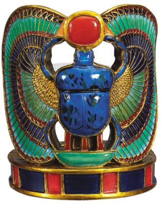 Ancient Egyptian Scarab Votive Candle Holder
