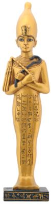 Ancient Egyptian Ushabti With White Crown Statue