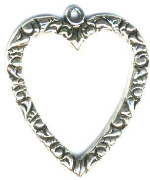 Embossed Heart Jewelry Pendant