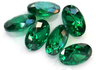 Emerald (lab Created) Faceted Gemstone