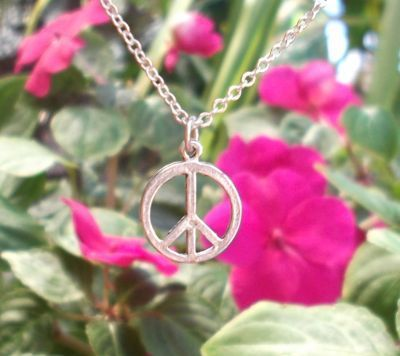 Extra Small Peace Sign  Jewelry Pendant
