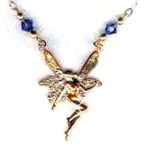 Fairy Flight Necklace with Crystals
