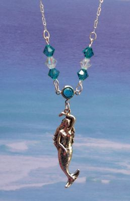 Sea Fairy Necklace with Swarovski Crystal