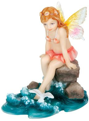 Fairies - Child Fairy Playing In The Sea Statue