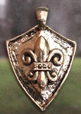 Fleur De Lis Shield Celtic Jewelry Pendant