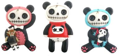 Furry Bones Pandie Panda Magnets (Set of 6)