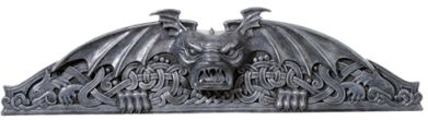Gothic Gargoyles - Gargoyle Wall Decor Pediment
