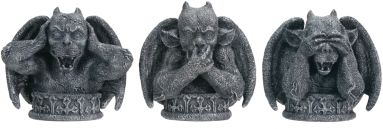 No Evil Gargoyles Statues (Set Of 3)
