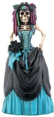 Skeleton Gothic Bride Statue