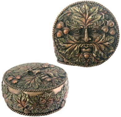 Green Man Jewelry Box - Fall