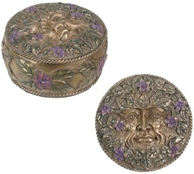 Green Man Jewelry Box - Spring