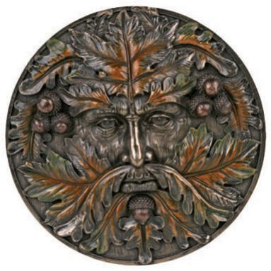 Green Man Plaque - Fall