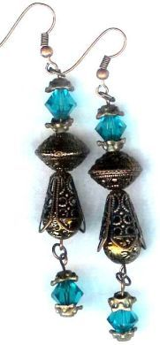 Handmade Jewelry -  Midnight In Byzantium Earrings