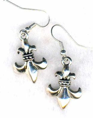 Small Fleur-de-lis Earrings