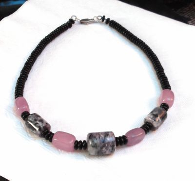 Handmade Jewelry Russian Rose Gemstone Necklace
