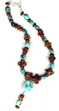 Handmade Jewelry Southwest Winds Gemstone Necklace