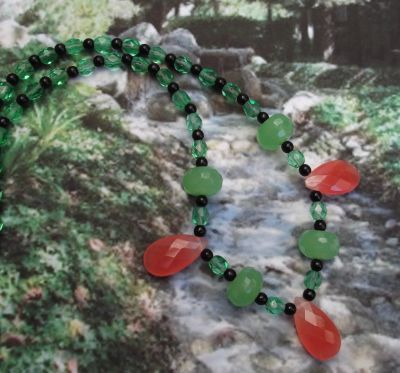 Strawberry Margherita Gemstone Necklace