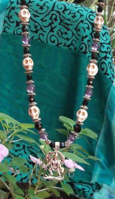 Kali Skull Necklace - Amethyst