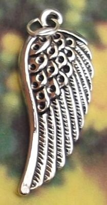 Large Angel Wing - Left Jewelry Pendant