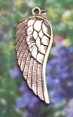 Large Right Angel Wing Jewelry Pendant