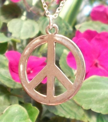 Large Smooth Peace Sign Jewelry Pendant