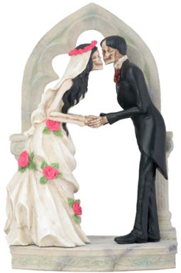 Skeleton Wedding Couple -love Never Dies Statue