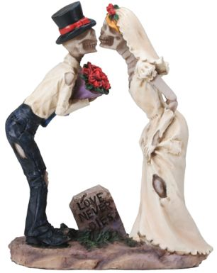 Skeleton Lovers Kissing - Love Never Dies