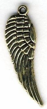 Medium Angel Wing - Reversible Jewelry Pendant