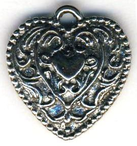 Medium French Heart Jewelry Pendant