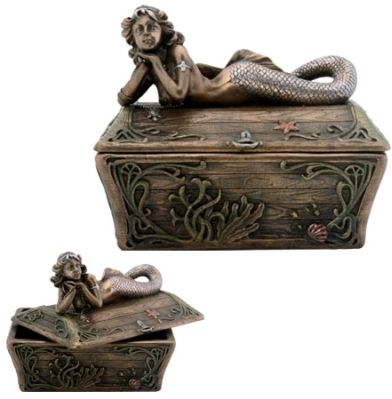 Mermaid Jewelry Box - Trinket Box