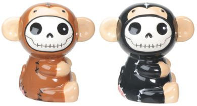 Furry Bones Munky Monkey Salt N Pepper Shaker