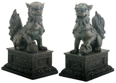 Pair Of Chinese Lions Statue