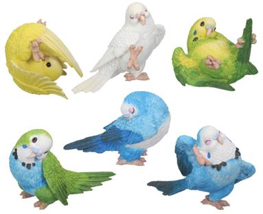 Parakeets -  Set Of 2 Figurine Statues