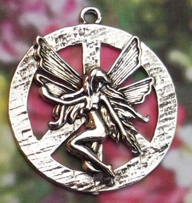Peace Fairy Jewelry Pendant