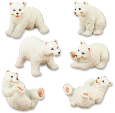 Polar Bear Statues  (Set of 6)