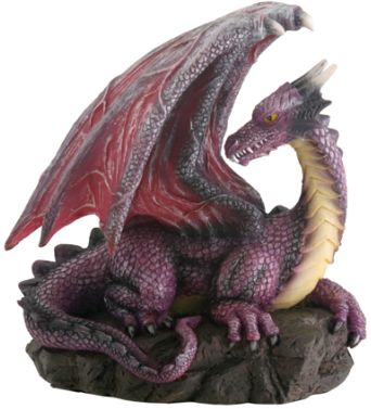 Purple Dragon On Rock Statue
