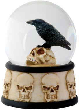 Raven On Skull Waterglobe (65mm)