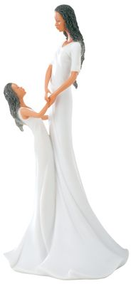 Sharing - African American Mother And Daughter Figurine Statue