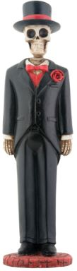 Day Of The Dead Small Groom Skeleton Statue