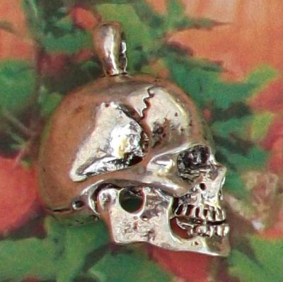 Skull Profile Jewelry Pendant