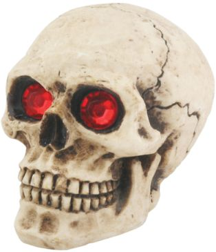 Skull Car Shift Knob With Red Eyes