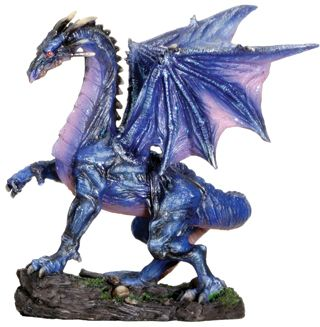 Small Midnight Dragon Figurine Statue