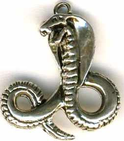 Striking Egyptian Cobra Jewelry Pendant