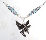 Aquamarine Happiness Fairy Necklace