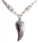 Aurora Borealis Angel Wing Necklace