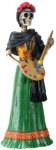 Day Of The Dead Frida Painting Skeleton Statue