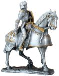 French Knight On Horse - Pewter