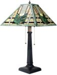 Green Arrow Mission Art Glass Lamp