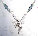 Light Sapphire Good Luck Fairy Necklace
