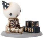 Lucky On His Birthday Boy Skeleton Statue
